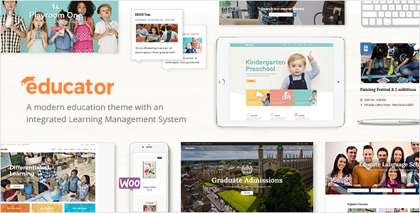 Educator Theme Banner for WordPress