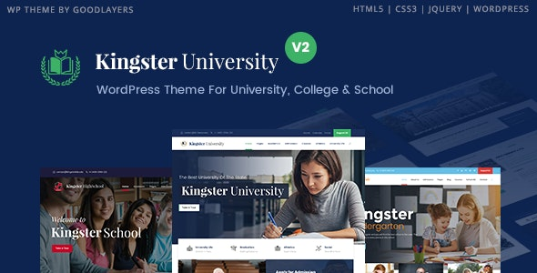 Kingster University WordPress heme for University, College and School Banner