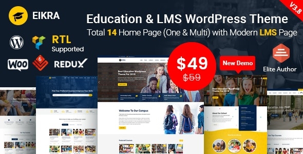 EIKRA Education and LMS WordPress theme