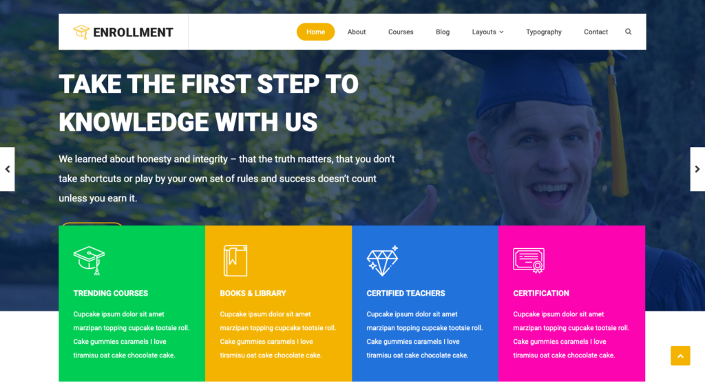 Enrollment Free WordPress Theme Screenshot