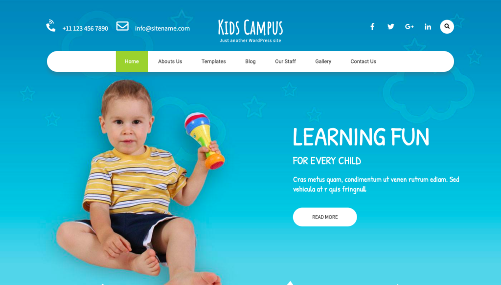 Kids Campus Free WordPress Theme