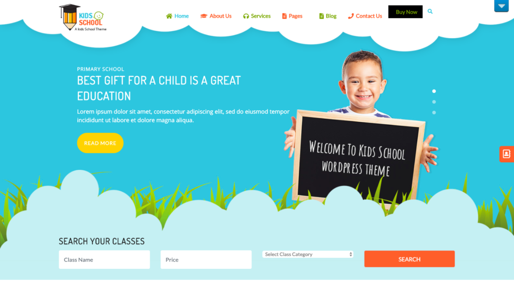 Kindergarten Free WordPress Theme screenshot
