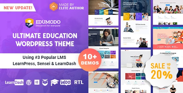 EduModo Ultimsate Education WordPress theme banner