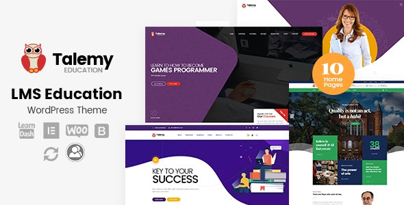 Talemy Education LMS Education WordPress Theme
