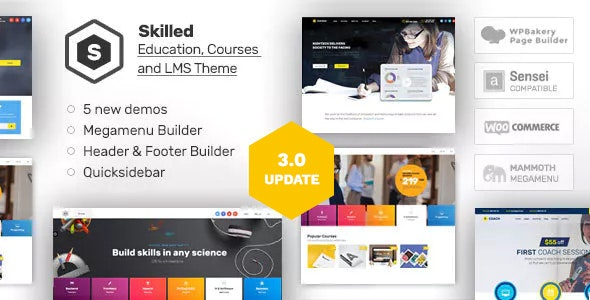 Skilled Education Theme for WordPress Banner
